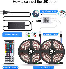 LED Strip Lights Kit 32.8ft 5050 RGB 300led Strips