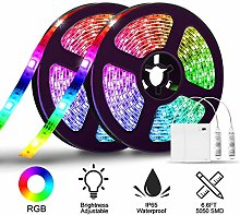 LED Strip Lights SOLMORE 2 Pack Battery Operated
