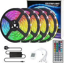 LED Strip Lights with Remote, Colour Changing RGB