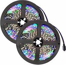 LED strip lights x2 flexible 5m 300 LEDs - led