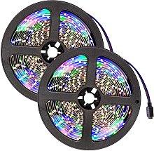 LED strip lights x2 flexible 5m 300 LEDs - white