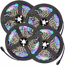 LED strip lights x4 flexible 5m 300 LEDs - led