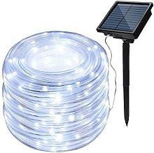 LED Strip Outdoor Solar Lights, Waterproof 100LED