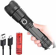 LED Torch Rechargeable 8000 Lumens Powerful LED