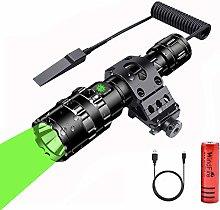 LED Torch Tactical Flashlight, Green Light LED