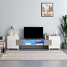LED TV Stand Cabinet Sideboard RGB LED Lights,