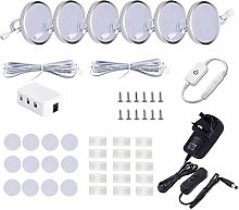 LED Under Cabinet Lighting Fixture,6 Pack Wired