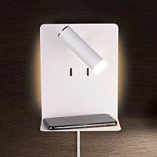LED wall lamp Element with shelf, matt white