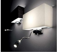 LED wall lamp with textile lampshade Hotel