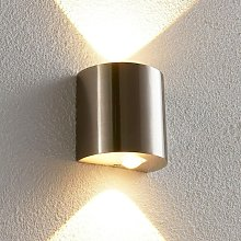 LED Wall Light 'Lareen' (modern) in Silver