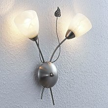 LED Wall Light 'Yannie' in Silver made of