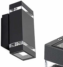 LED Wall Light Anthracite Colour - 6 x 1W LED High
