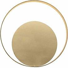 LED Wall Light, Modern Minimalist Gold Metal Full