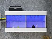 LED Wall Mounted Cabinet Glass Shelf Storage