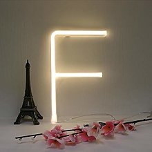 LED Warm White Neon Letters Sign Night Lamps Light