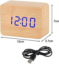 LED Wooden Digital Alarm Clocks,Desktop Table