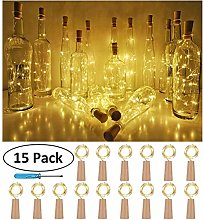 Leddy Bottle Lights with Cork,Battery Powered
