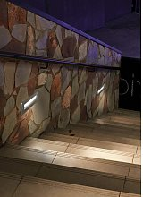 Ledkia - Gea Direct recessed wall light, Stainless