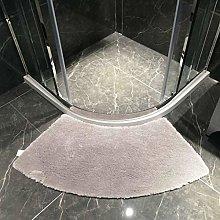 Ledph Quadrant Curved Bath Rug, Semi-Circular