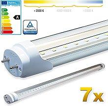 LEDVero 7X SMD LED Tube/Tube Fluorescent Tube with