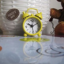 LEEDY Clock Creative Cute Mini Metal Small Alarm
