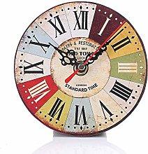 LEEDY Silent wall clock home kitchen office wine