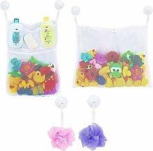 LEEFE 2 x Mesh Bath Toy Storage with 5 Pockets -