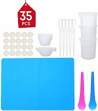 Leepesx 35pcs Resin Mixing Cup Tools Kit Set of