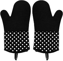 Leesentec Heat Resistant Oven Gloves Silicone and
