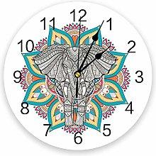 Leeypltm Decorative Wall Clock,Africa Indian