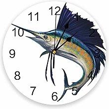 Leeypltm Decorative Wall Clock,Beakfish Marine