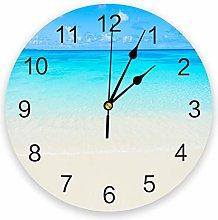 Leeypltm Decorative Wall Clock,Blue Ocean