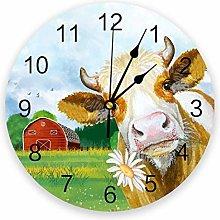 Leeypltm Decorative Wall Clock,Cattle Daisies