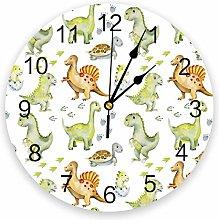 Leeypltm Decorative Wall Clock,Dinosaur Cartoon