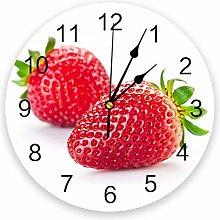 Leeypltm Decorative Wall Clock,Fresh Fruit