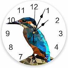 Leeypltm Decorative Wall Clock,Geometric Polygon