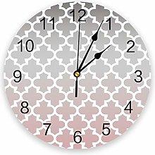 Leeypltm Decorative Wall Clock,Pink Gradient Retro