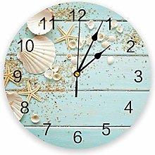 Leeypltm Decorative Wall Clock,Wooden Board 25CM