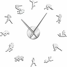 Leeypltm DIY 3D Stickers Clock,American Football