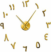 Leeypltm DIY 3D Stickers Clock,Arabic Numerals