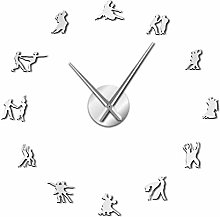 Leeypltm DIY 3D Stickers Clock,Ballroom Dancing