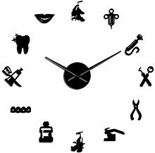 Leeypltm DIY 3D Stickers Clock,Dentist 37 Inch
