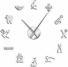 Leeypltm DIY 3D Stickers Clock,Dentist 47 Inch