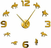 Leeypltm DIY 3D Stickers Clock,Horse Racing 47