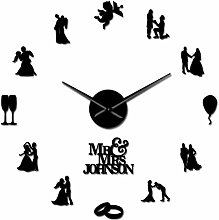 Leeypltm DIY 3D Stickers Clock,Lovers Couple 37