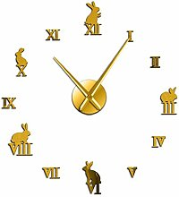 Leeypltm DIY Frameless Large Wall Clock,Rabbit