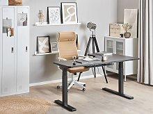 Left Corner Desk Black Tabletop 160 x 110 cm