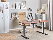 Left Corner Desk Dark Wood Tabletop 160 x 110 cm