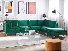 Left Hand 5 Seater Modular Velvet Corner Sofa with