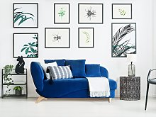 Left Hand Chaise Lounge in Blue with Storage